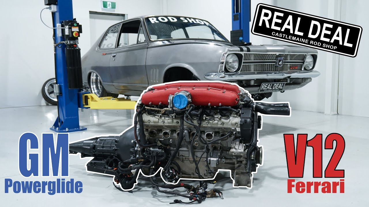 Fitting a GM Powerglide to Real Deals V12 Ferrari engine