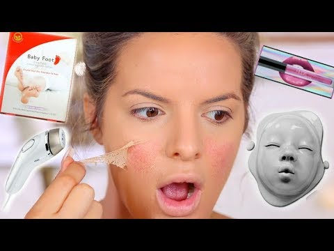 TESTING WEIRD VIRAL BEAUTY PRODUCTS! HITS AND MISSES | Casey Holmes