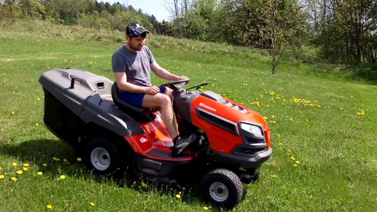 first mower lawn mower tractor husqvarna tc 139 t youtube. Black Bedroom Furniture Sets. Home Design Ideas