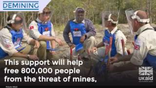 UK aid triples support for action against landmines