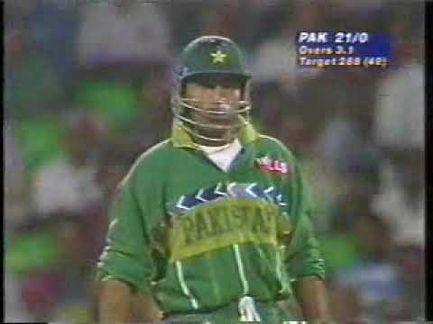 first ten overs pakistan batting 1996 world cup vs india