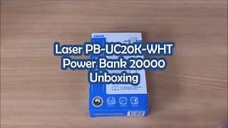 Laser PB-UC20K-WHT Power Bank 20000 Unboxing
