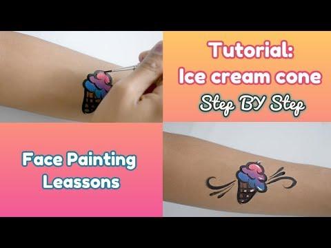 Face painting lessons - Ice cream cone Tutorial