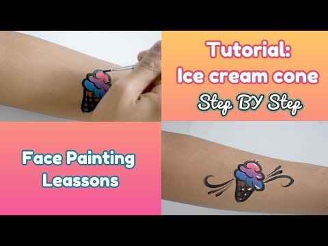 Face painting lessons – Ice cream cone Tutorial