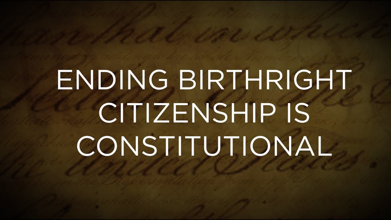 Trump 'Seriously' Considering End to Birthright Citizenship Despite 14th Amendment