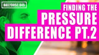 FE EXAM FLUID MECHANICS - PRESSURE DIFFERENCE PART 1 | FE EXAM PRACTICE PROBLEM | DAILYDOSE 045