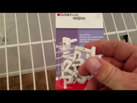 How to install wire shelves into a new closet