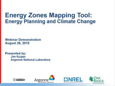 Energy Planning and Climate Change (August 26, 2015 Demonstration)