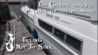 We cruise our Carver 355 from Philly to Bristol #47