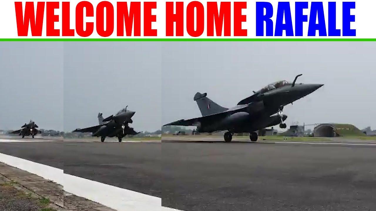 Re-Upload Full Video I Welcome Home Rafale I अंबाला एयरबेस पर राफेल की लैंडिंग