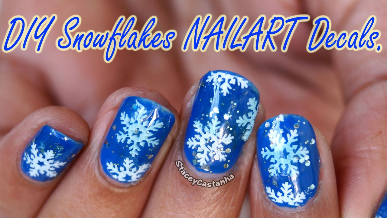 christmas nailart diy snowflakes nail decals tutorial bornprettystore youtube