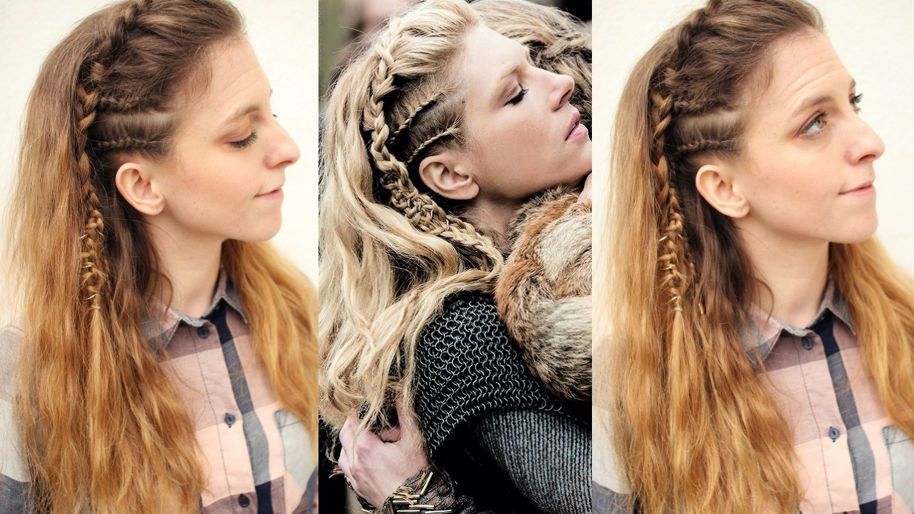 Vikings Inspired Lagertha Hair Tutorial  Viking Hairstyles   Braidsandstyles11
