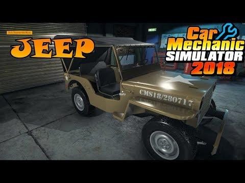 Car Mechanic Simulator 2018  - Jeep DLC - Willys Jeep - Military 4x4