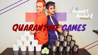 DIY Toilet Paper Toss Game | Quarantine Games | Will and James