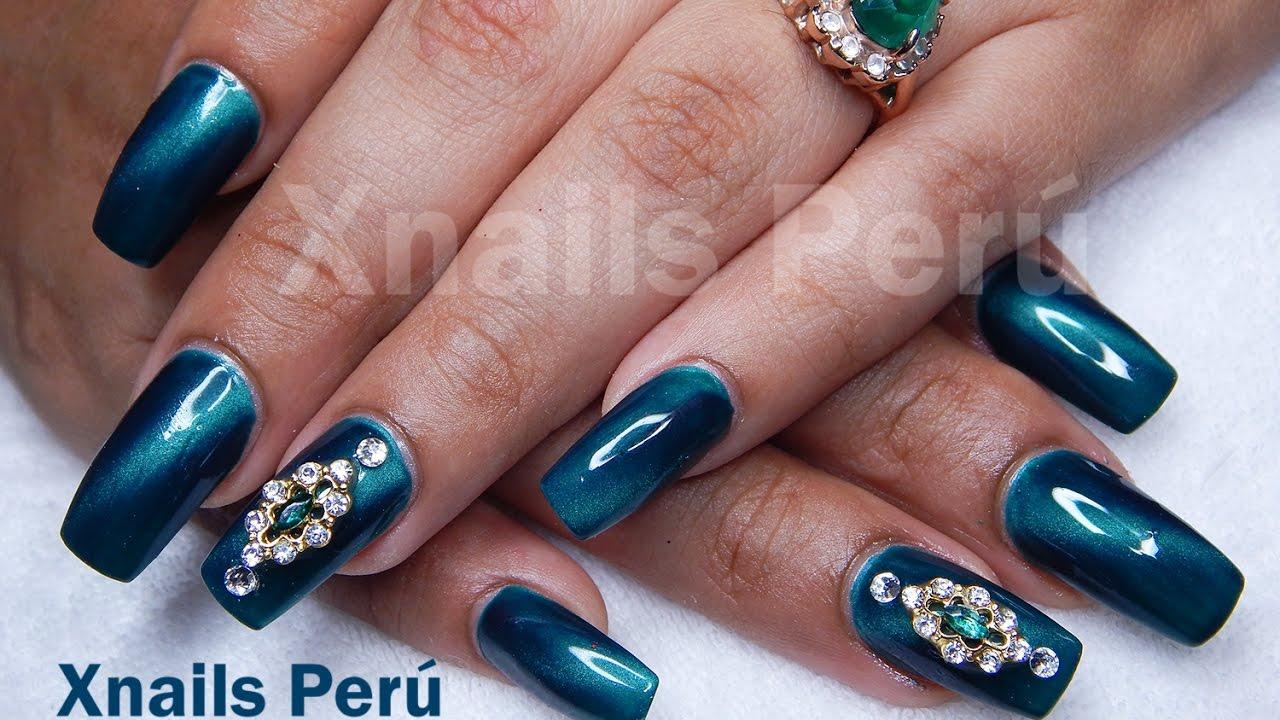 Uñas Acrílicas con Gel esmalte Magnetico ojo de gato / Xnails Peru ...