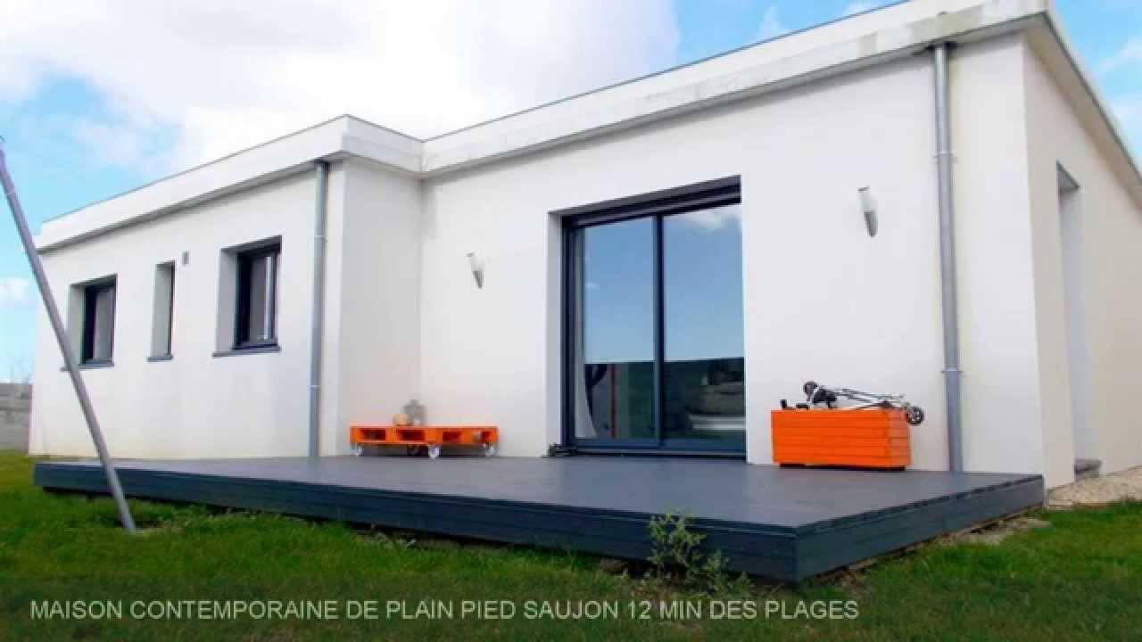 Vente maison contemporaine de plain pied saujon 12 min des for Maisons contemporaine