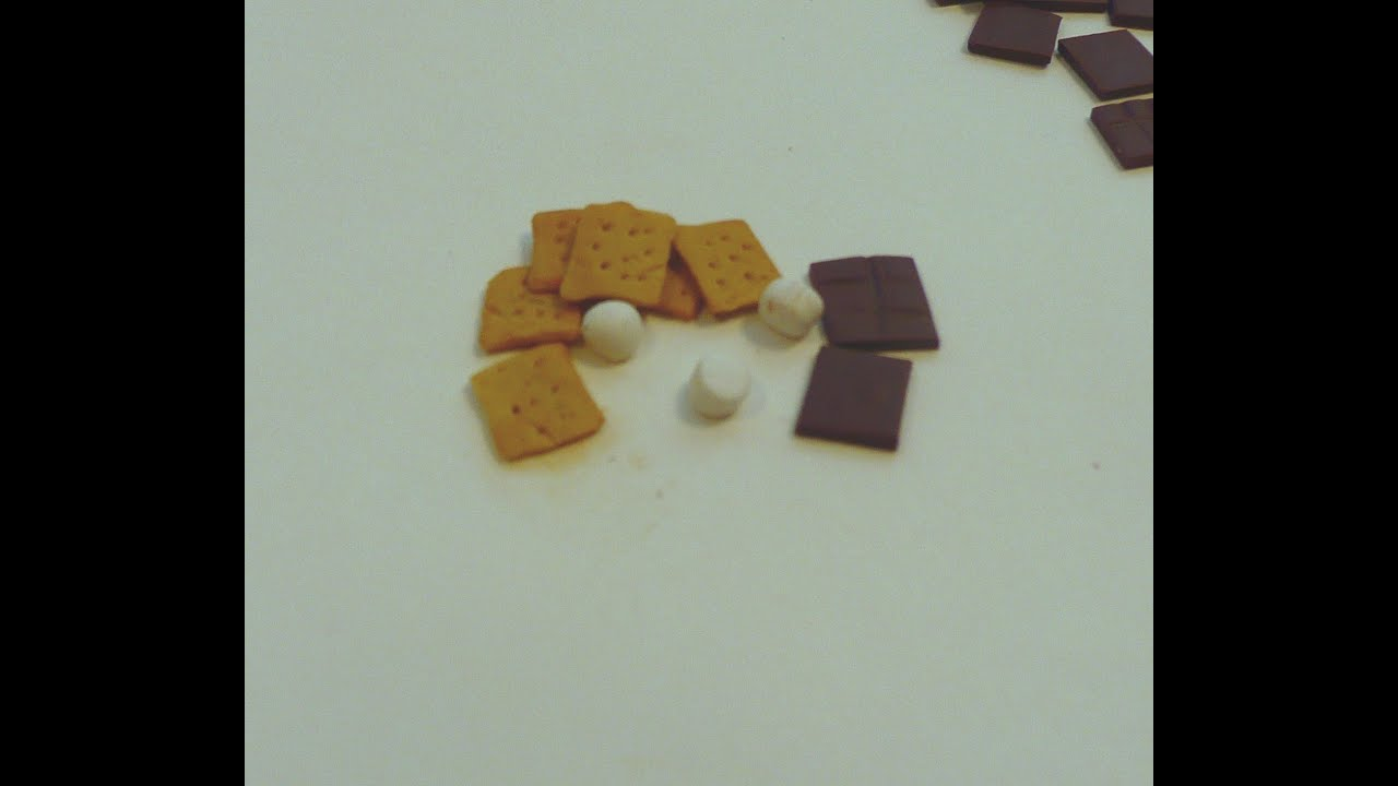Dollhouse Miniatures Youtube: Dollhouse Miniature S'more Ingredients