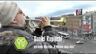 """Daniel Rupiński gra hymn Olsztyna """"O Warmio moja miła"""""""