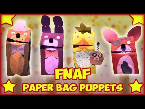 How to Make: Paper Bag Puppets (FNAF)