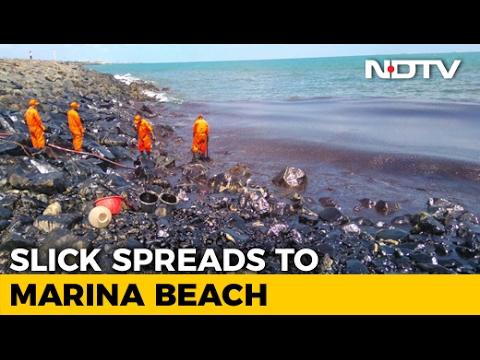 Oil Spill Near Chennai Blackens Beaches, Fishing Community Affected