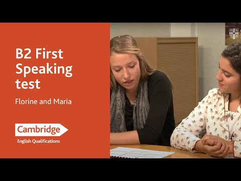Cambridge English: First (from 2015), Florine and Maria
