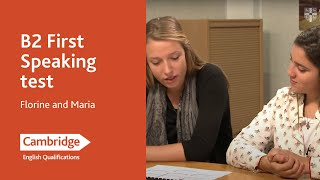 B2 First speaking test - Florine and Maria | Cambridge English