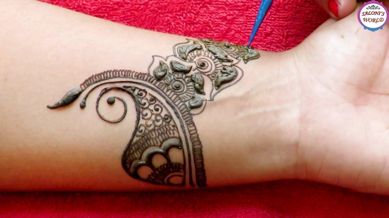 round mehndi designs for legs