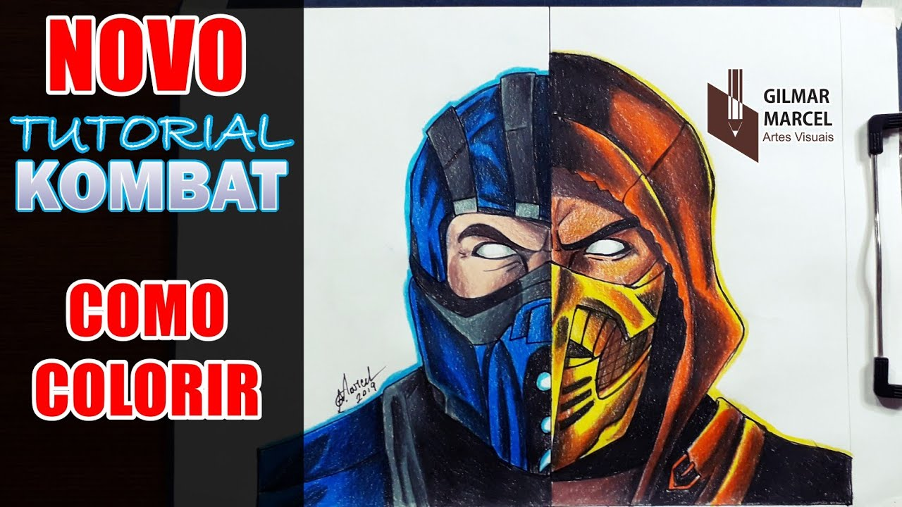 Tutorial Kombat 8 Scorpion Vs Subzero Mkx Como Colorir Youtube