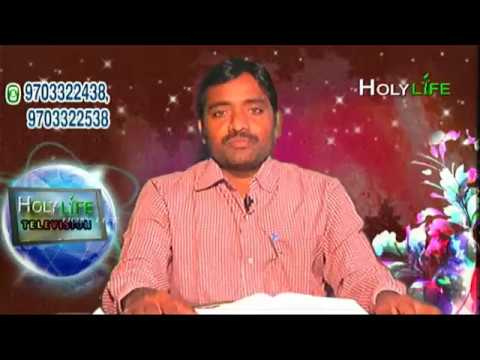 HOLY LIFE TELEVISION LIVE WITH BRO M BHASKER GARU KODAD (06-11-2017)