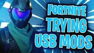 Trying Fortnite: Battle Royale USB Mod menu on PC, Xbox one & PS4 -...