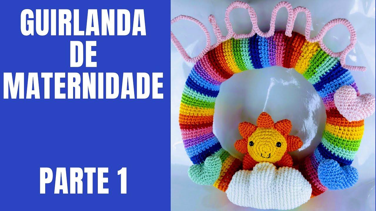 Guirlanda Porta Maternidade Ursinho Aviador | Brinquedos de crochê ... | 720x1280