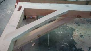 Trees To Timber Frame Cabin Off-grid Homestead Project Knee Braces