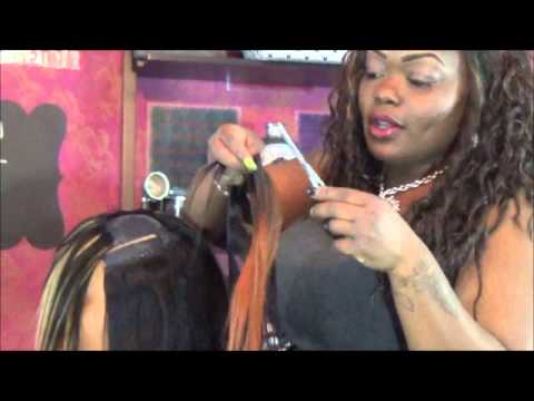 Layered And Feathered Invsbl Part Quick Weave Bob Youtube