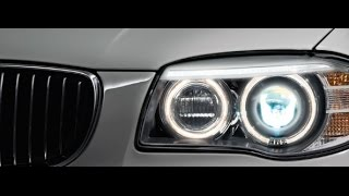 LCI Scheinwerferblenden f. BMW 1er E81 E82 E87 E88 Performance Devil Eyes Aufkleber