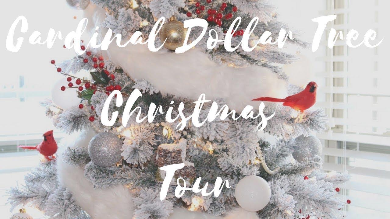 Cardinal Christmas Tree Dollar Tree Ornaments