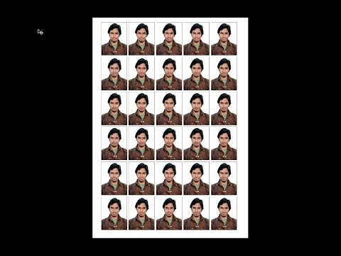 How To Set Passport Size Photo In A4 Sheet Hindi Youtube