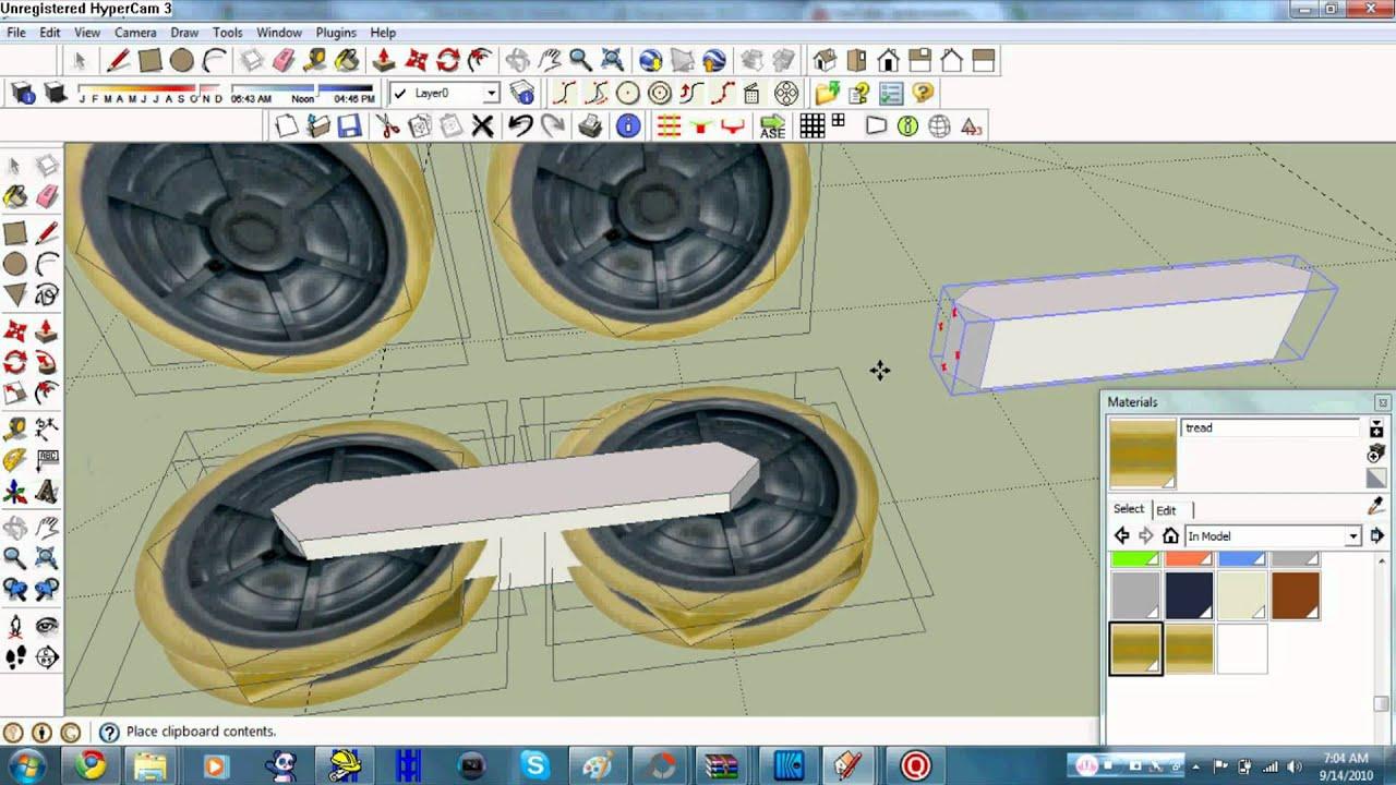 RCT3 Modeling TUT: Wheel assembly