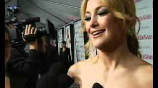 Kate Hudson talking about her wedding at Bride Wars premiere
