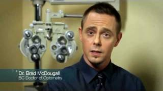 What vision problems can be detected by an eye exam?