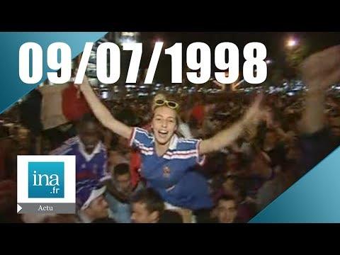 France 98 JT France les bleus vont en finale 2 20h 9 juillet 1998 - Archive vidéo INA