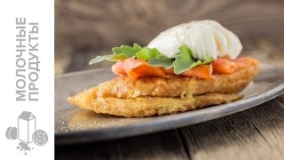 rus french toast with smoked salmon and poached egg