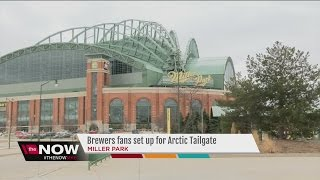 Brewers fans camp out for tickets at Arctic Tailgate