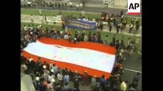 PERU: LIMA: THOUSANDS MARCH TO DEMAND PEACE