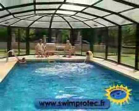 Abri de piscine swim protec youtube for You tube abri de piscine