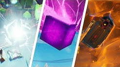 Touch a Giant Glowing Cube, Enter Rift Above Loot Lake, Search a Landing Pod In Meteor - Fortnite