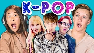 Teens React to K-Pop (BTS - Blood, Sweat & Tears, BLACKPINK, EXO-CBX)