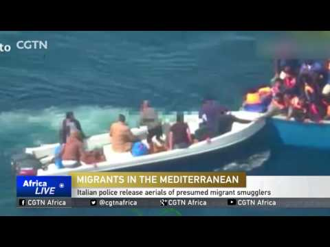 Italian police release aerials of presumed migrant smugglers
