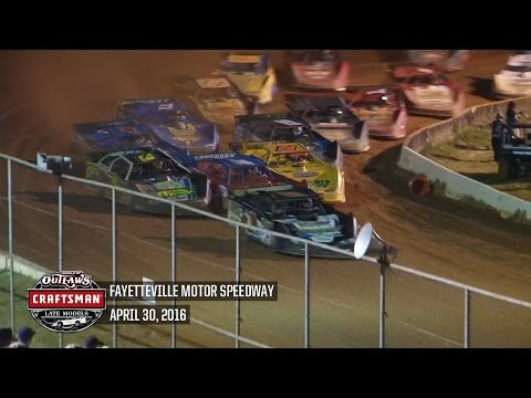 World of Outlaws Craftsman Late Models Fayetteville Motor Speedway April 30th, 2016 | HIGHLIGHTS