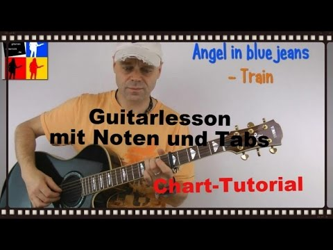 Angel in blue jeans - Guitarlesson - Train
