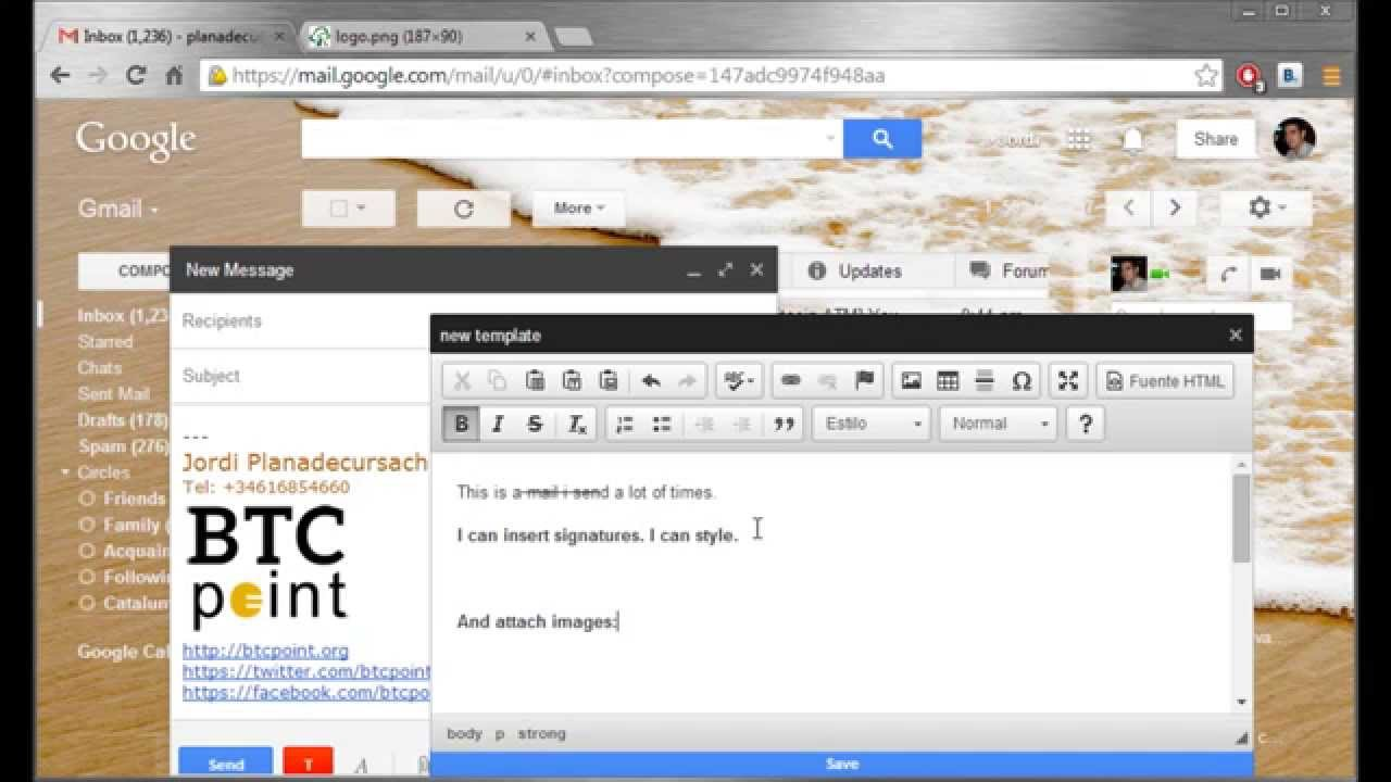 · di jendela tulis, masukkan teks template anda. How To Create Email Templates In Gmail Using Gmail Template Manager Chrome Extension Youtube